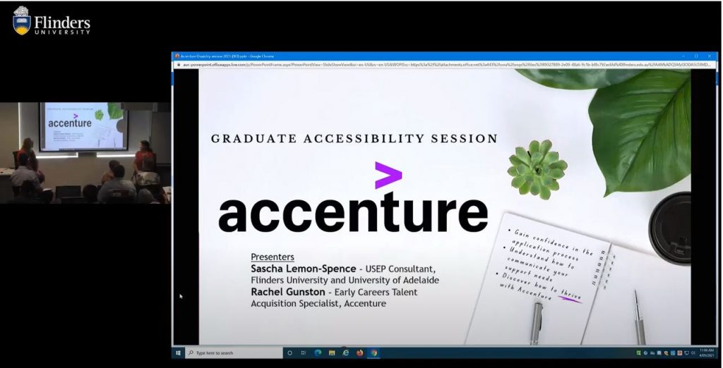 Sascha USEP SA discussion with Accenture a graduate employer